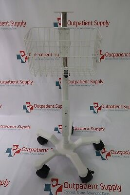 Infinium Medical Cleo Series Patient Monitor Adjustable Roll Stand w/ Basket