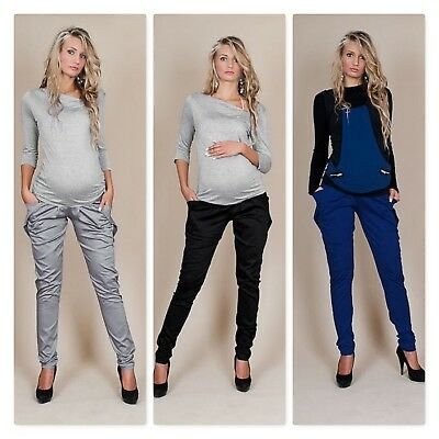 Satin Classic Trousers Pregnancy Maternity Aladdin Pants Loose Baggy Elegant