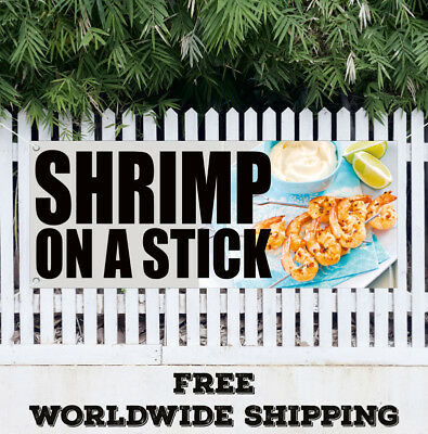 SEAFOOD Fish Shrimp Lobster Sushi Swooper Flag Vertical Feather Bow Banner Sign