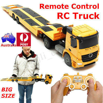 AU Remote Control RC Truck Flatbed Semi Trailer Electronics Hobby Kids Toy Kid