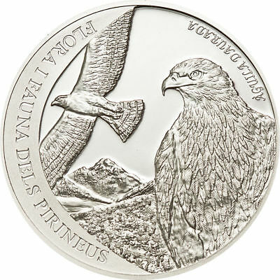 Andorra 2011 5 diners Golden Eagle Pyrenees Wildlife Proof Silver Coin