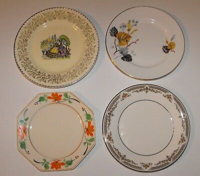 Lot x 4 Vintage English Bone China Side Plates * Royal Doulton Queen Anne +