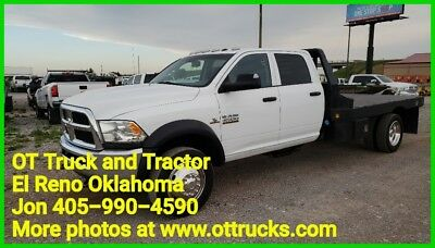 Ram 4500 Chassis Tradesman 2014 Dodge RAM 4500 4wd Crew Cab 11ft Flatbed 6.7L Diesel