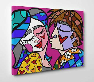 Quadro Outlet - Romero Britto - Feeling Love - Stampa su Tela effetto Dipinto