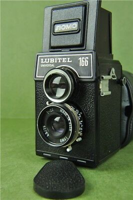Vintage LUBITEL 166 Universal Twin Reflex Camera LOMO In Black Case