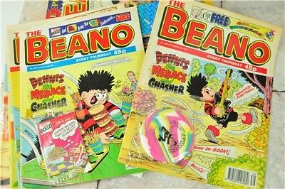 BEANO Job lot Collection Late 1990's With Freebies Attached | Good Condition Col