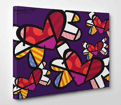 Quadro Outlet - Romero Britto - Love in the Air - Stampa su Tela effetto Dipinto