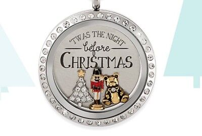 ORIGAMI OWL Exclusive Twas the Night Before Christmas Locket ~Beautiful! HTF