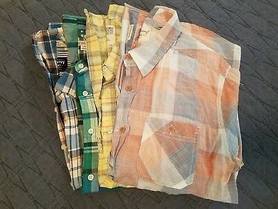 Lot of men's casual shirts, shorts, and bathing suits- size large
