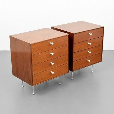 Pair of George Nelson & Associates THIN EDGE Nightstands Lot 3