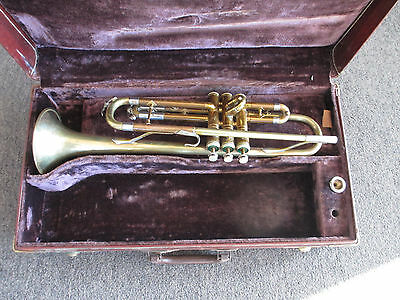 Cleveland Superior Model Trumpet Horn + Hard Case - 1950's Or 60's Nh White King