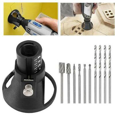 Dremel Rotary Multi Tool Cutting Guide Attachment Kit HSS Router Drill Bits Set