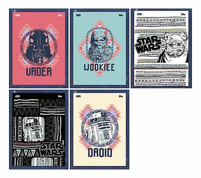 GEO-NATIVE SET OF 5 Topps Star Wars Card Trader Digital