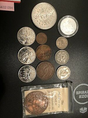 Mixed World Coins And Tokens Including $10 Silver Coin