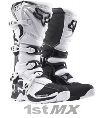 Fox Comp 5 White MX Motocross Offroad Race Boots Adult UK10 US11