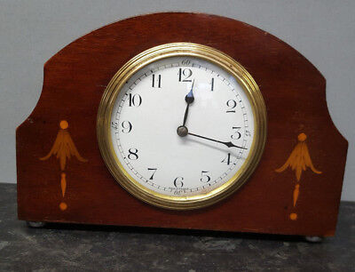 Vintage Mahogany Mantle Clock with 8 Day Platform Escapement