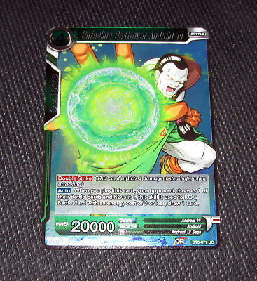 Foil Unfeeling Destroyer Android 14 BT3-071 Dragon Ball Super Mint Holo