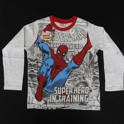 Marvel Spiderman Childs T Shirt Sizes S-L Black Blue Gray or Green NWT Super!