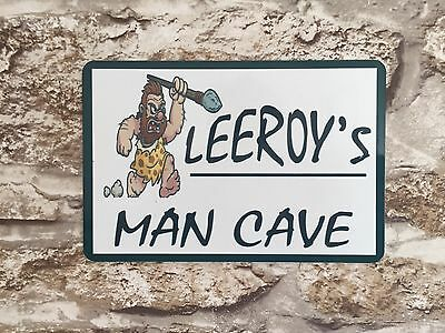 Metal Sign Personalised Man Cave Sign Wall Plaque Birthday Gift Shed Garage