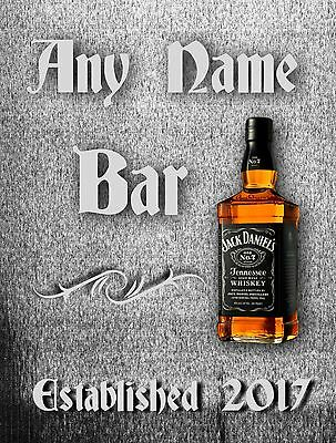 Metal Sign Personalised Pub  Wall Plaque Ideal Fathers Day Gift Man Cave Bar