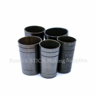 5 BRASS ULTRA FERRULES  ALL ONE PRODUCTION  20.5 - 25 mm