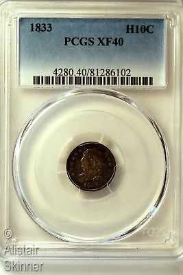 1833 Capped Bust Half Dime H10C PCGS XF40