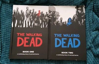 The Walking Dead Book One and Book Two Hardback Graphic Novel Comic