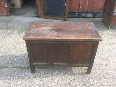 Old antique coffer / blanket box,very old looking,not sure as to wood,oak ?