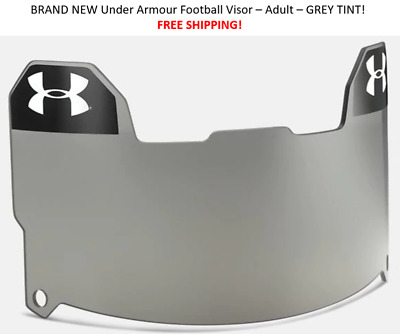 BRAND NEW Under Armour Adult Football Visor - Grey- FREE SHIPPING