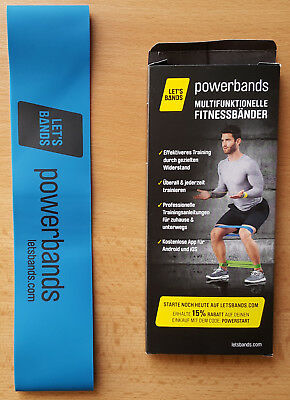 Let's Bands Powerbands Gymnastikband Fitnessband Blau NEU TOP