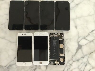 LOT of (7) iPhone 6 *power on but various issues* with FREE shipping
