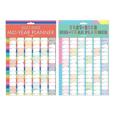 2018 2019 Large Academic Mid Year Wall Planner Calendar A1 Size 840 x 600mm