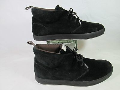 5aa5469927f29 Clarks TANNER MID CHUKKA Suede Leather Desert Boots Black Sz 10.5-M