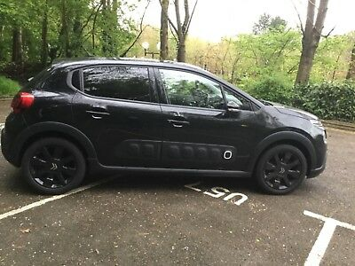 2017 Citroen C3 Flair Puretech Black 17 Plate **top Spec** £20 Road Tax