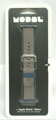 Modal - Woven Nylon Band Watch Strap for Apple Watch 38mm - Navy Blue