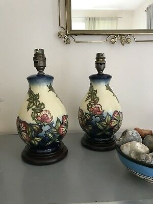 A pair of Original Moorcroft table lamp in excellent condition and beautiful