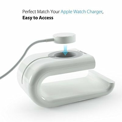 Apple Watch Series 3 Charging Dock Phone Tablet Stand Holder 38mm & 42mm White