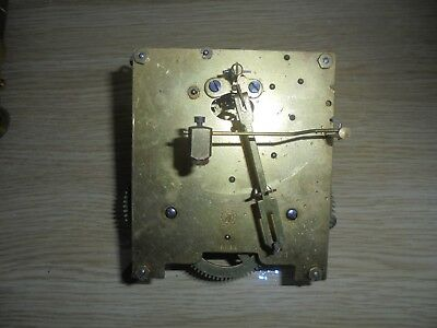 Antique Clock Movement Untested For Spare Parts Repair