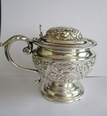 Georgian Large Heavy Unusually Early Embossed Mustard Pot HM George III 1770