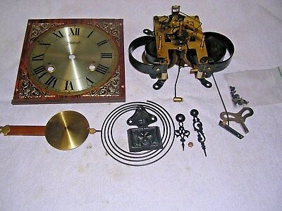CLOCK  PARTS,MOVEMENt,CHIME, HANDS,PENDULUM ,KEY   3