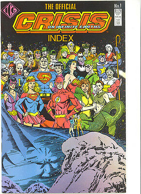 Crisis on Infinite Earths Official Index 1986 RARE Independent Comics Group