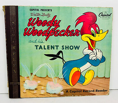 Woody Woodpecker Talent Show GREAT VINTAGE ILLUSTRATIONS Capitol Records 1949