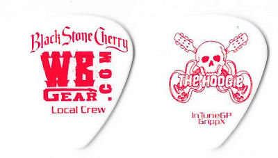 Black Stone Cherry red/white tour guitar pick