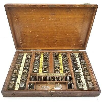 Antique | Pinkham & Smith | Optometrist Trial Lenses | Optometry Set w Case