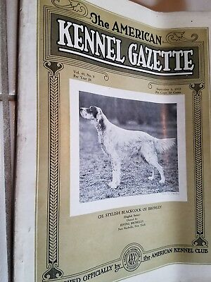 1932 the American Kennel Gazette AKC dog magazine ENGLISH SETTER