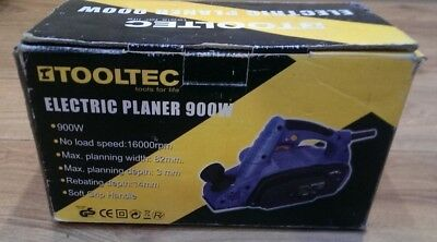Tooltec 900W Electric Power Planer Wood Plane Parallel Rebate Guides + Dust Bag