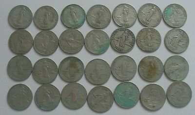 28 Philippines 25 Centavos (1958, 1960, 1962, 1964, 1966) Circulated Coins