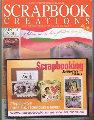 SCRAPBOOK CREATION Paper Craft Card Stamping Magazine with CD ROM Back to School