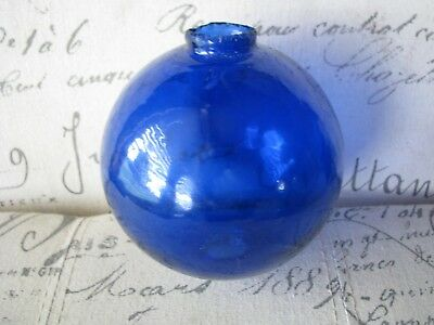 "Cobalt Blue ""K"" Old Lightning Rod Ball"