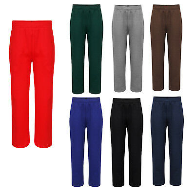 Kids Boys Girls Unisex Fleece Jogging Bottoms School PE Warm Winter Pants